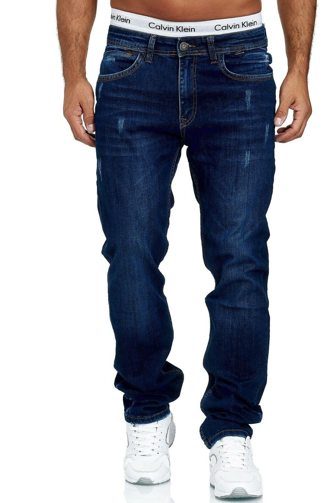 Herren-Jeans-Hose-Denim-KC-Black-Washed-Straight-Cut-Regular-Dicke-Naht-naehte Indexbild 66