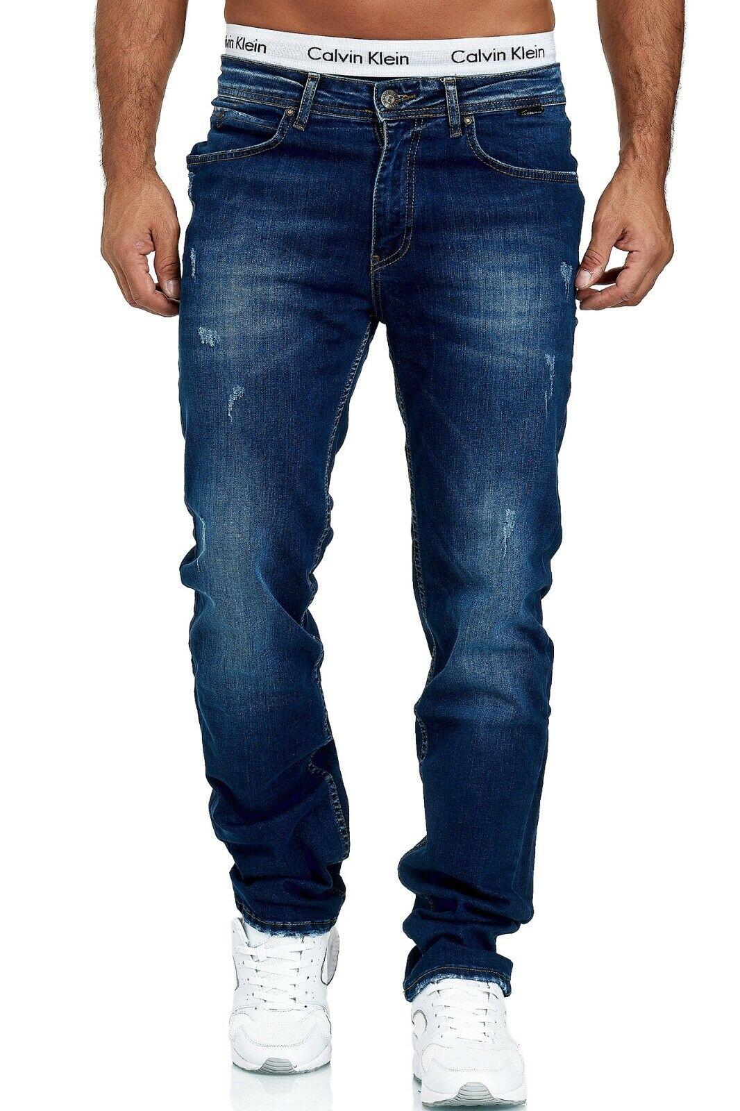 Herren-Jeans-Hose-Denim-KC-Black-Washed-Straight-Cut-Regular-Dicke-Naht-naehte Indexbild 56