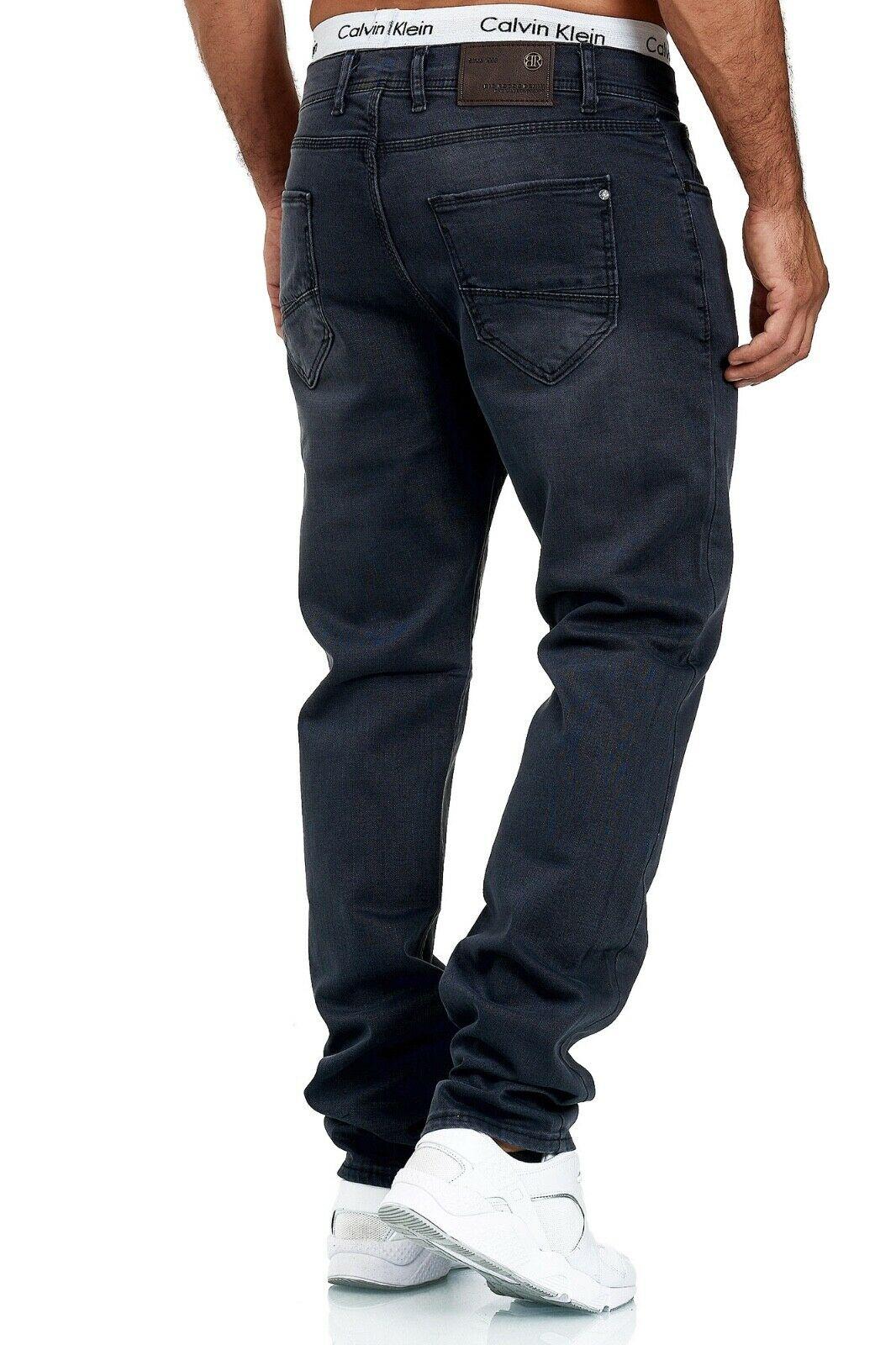 Herren-Jeans-Hose-Denim-KC-Black-Washed-Straight-Cut-Regular-Dicke-Naht-naehte Indexbild 84