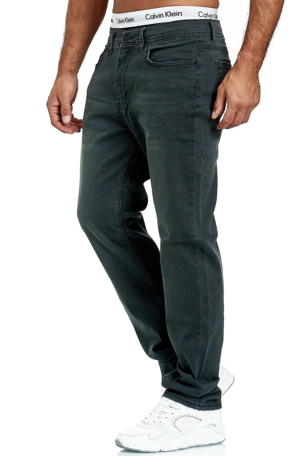 Herren-Jeans-Hose-Denim-KC-Black-Washed-Straight-Cut-Regular-Dicke-Naht-naehte Indexbild 47