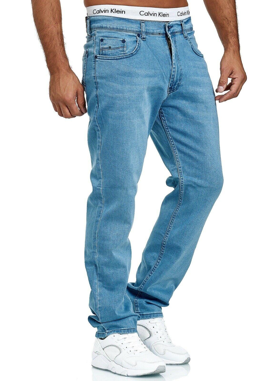 Herren-Jeans-Hose-Denim-KC-Black-Washed-Straight-Cut-Regular-Dicke-Naht-naehte Indexbild 73
