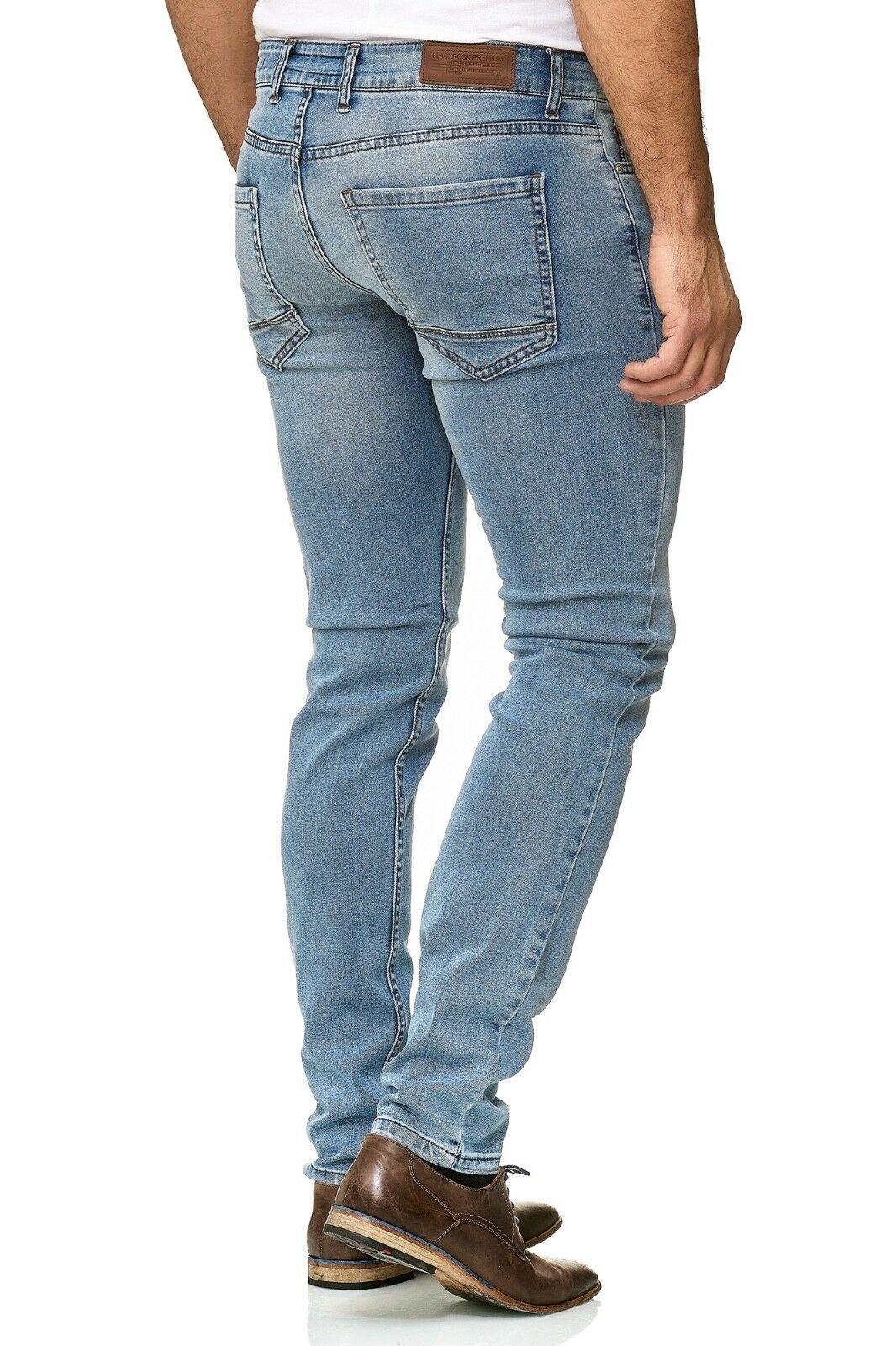 Herren-Jeanshosen-Stretch-Hose-Slim-fit-SKINNY-Jeans-Blau-Schwarz-Grau-Weiss Indexbild 39