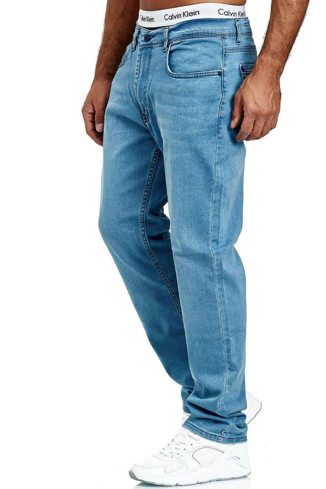 Herren-Jeans-Hose-Denim-KC-Black-Washed-Straight-Cut-Regular-Dicke-Naht-naehte Indexbild 72