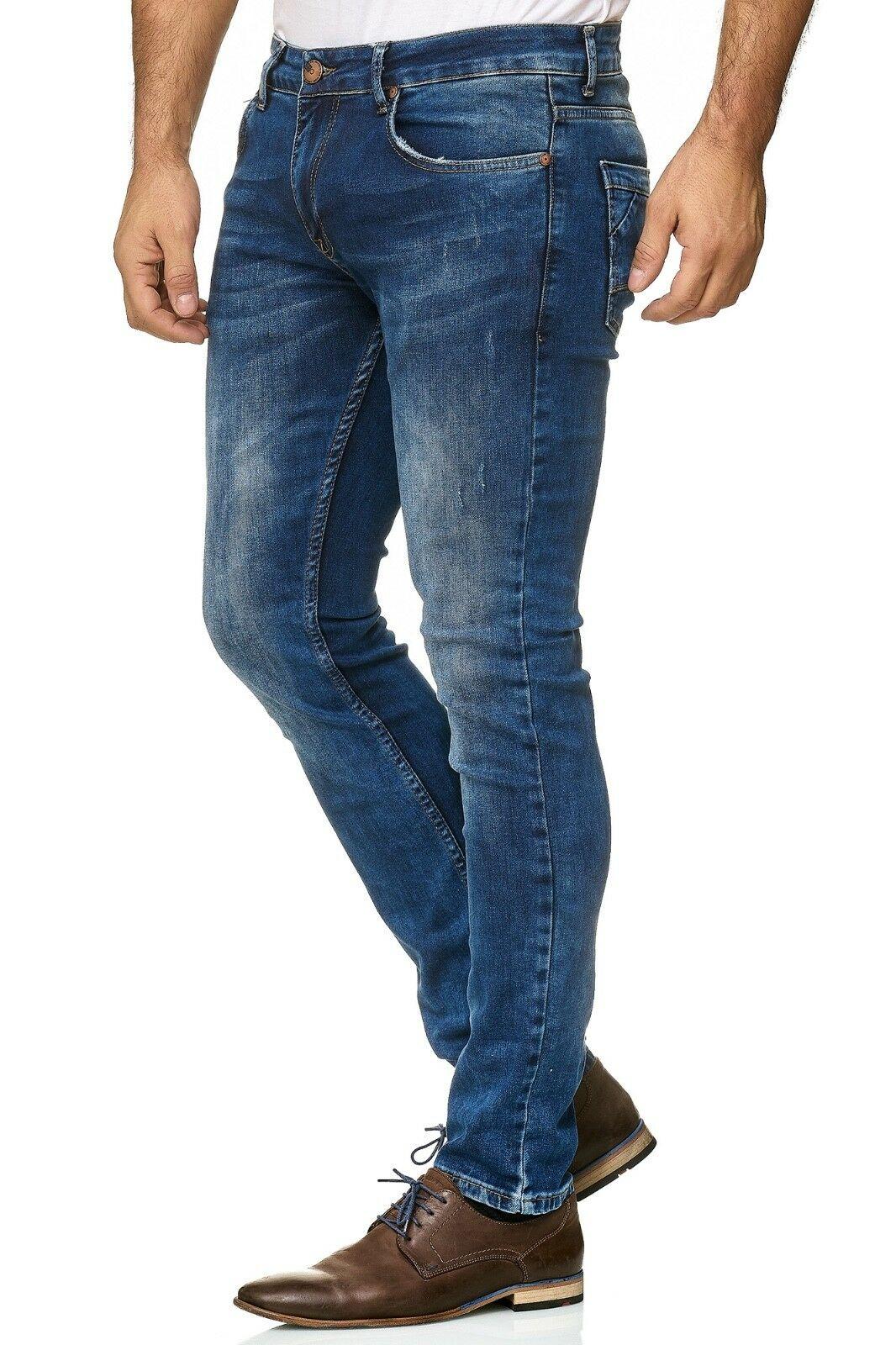 Herren-Jeanshosen-Stretch-Hose-Slim-fit-SKINNY-Jeans-Blau-Schwarz-Grau-Weiss Indexbild 41