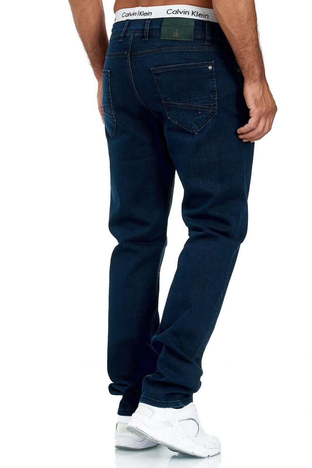 Herren-Jeans-Hose-Denim-KC-Black-Washed-Straight-Cut-Regular-Dicke-Naht-naehte Indexbild 44