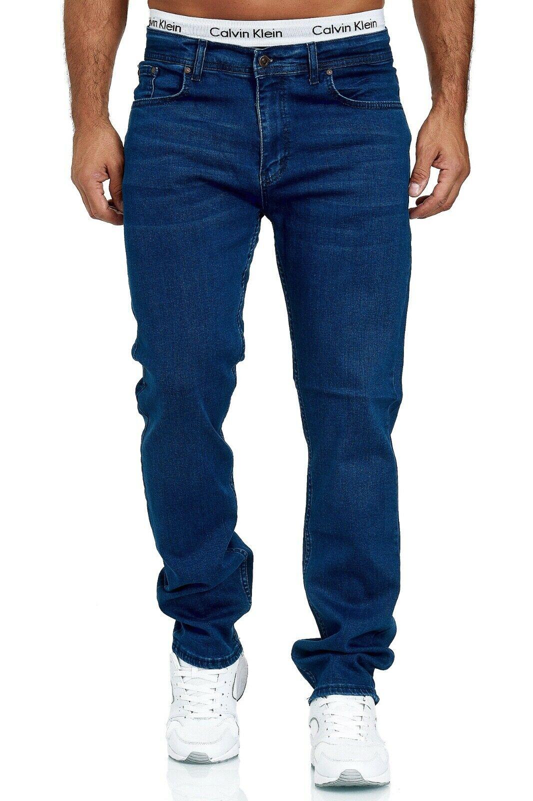 Herren-Jeans-Hose-Denim-KC-Black-Washed-Straight-Cut-Regular-Dicke-Naht-naehte Indexbild 31