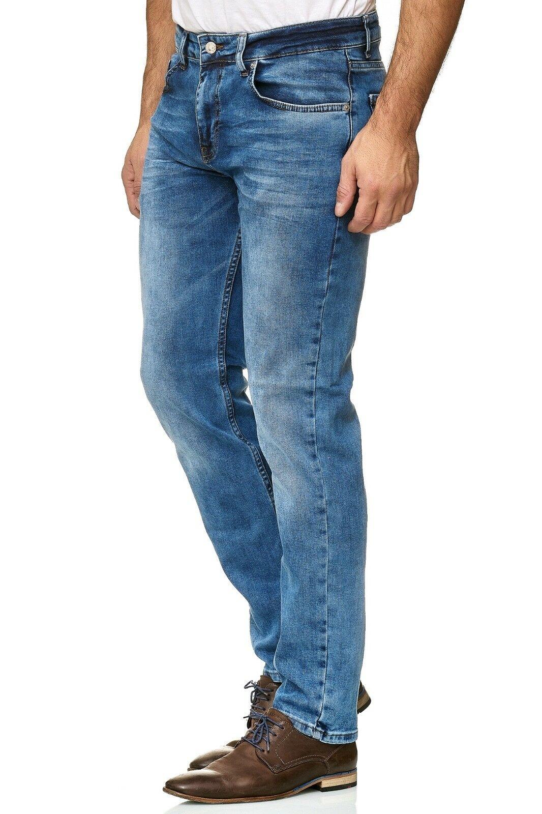 Herren-Jeanshosen-Stretch-Hose-Slim-fit-SKINNY-Jeans-Blau-Schwarz-Grau-Weiss Indexbild 53