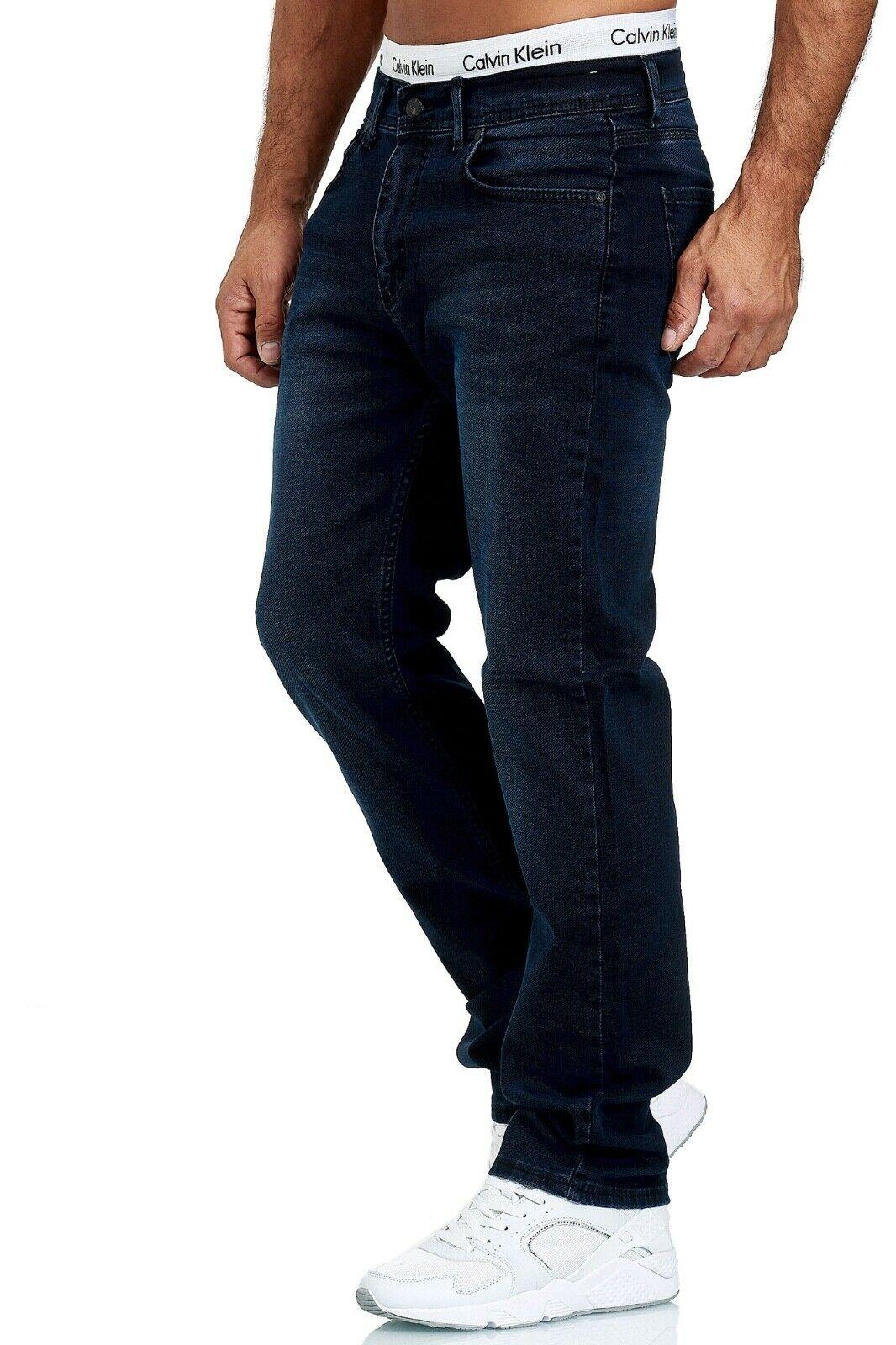 Herren-Jeans-Hose-Denim-KC-Black-Washed-Straight-Cut-Regular-Dicke-Naht-naehte Indexbild 87