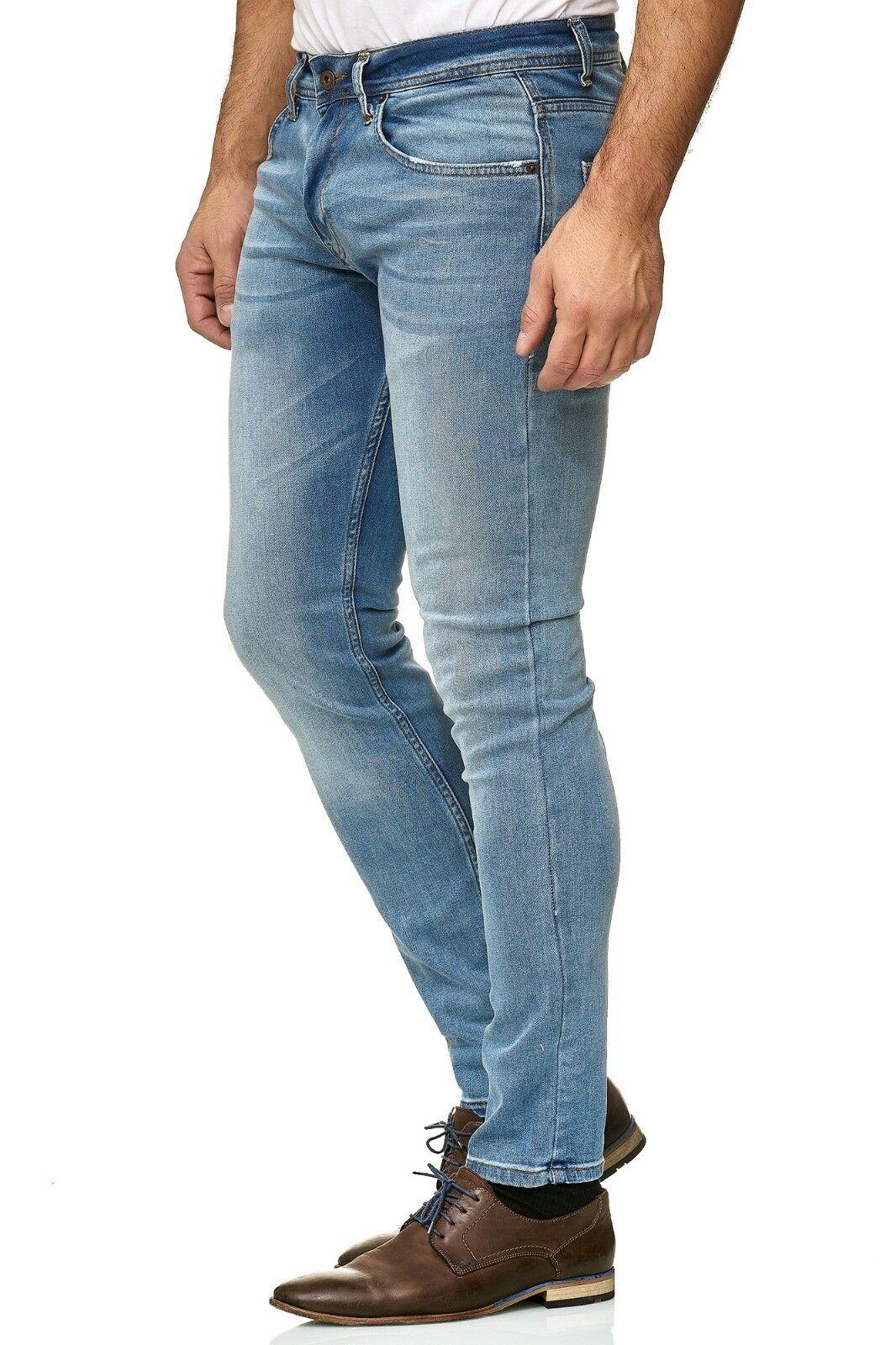 Herren-Jeanshosen-Stretch-Hose-Slim-fit-SKINNY-Jeans-Blau-Schwarz-Grau-Weiss Indexbild 45
