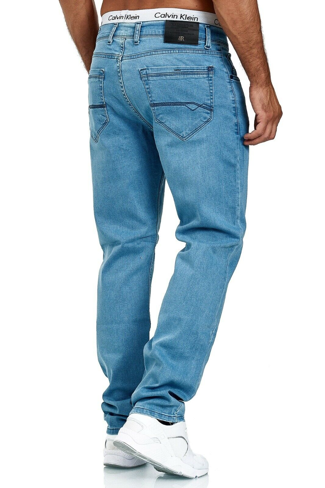 Herren-Jeans-Hose-Denim-KC-Black-Washed-Straight-Cut-Regular-Dicke-Naht-naehte Indexbild 74