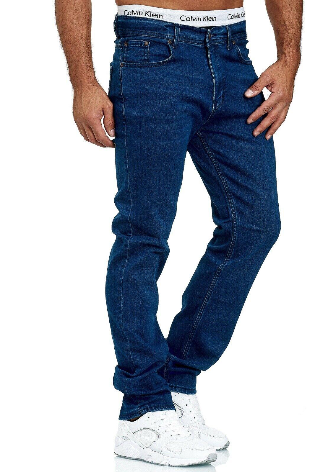 Herren-Jeans-Hose-Denim-KC-Black-Washed-Straight-Cut-Regular-Dicke-Naht-naehte Indexbild 33