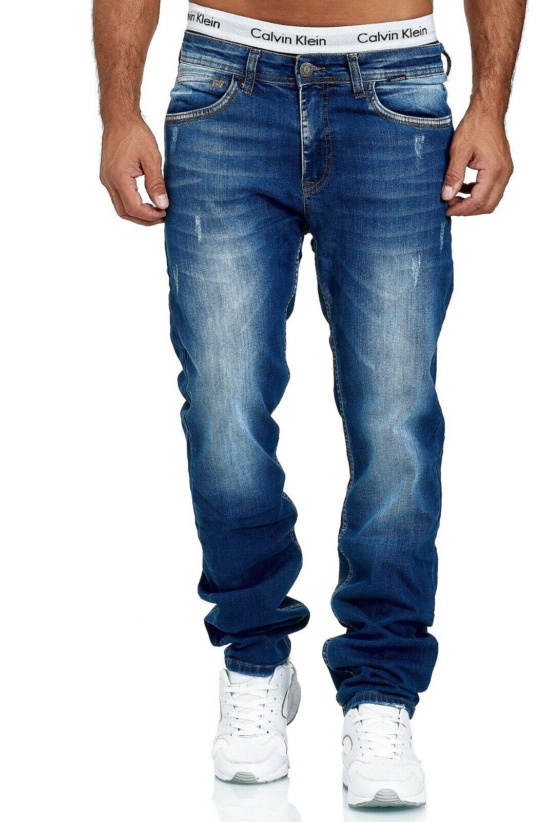 Herren-Jeans-Hose-Denim-KC-Black-Washed-Straight-Cut-Regular-Dicke-Naht-naehte Indexbild 36