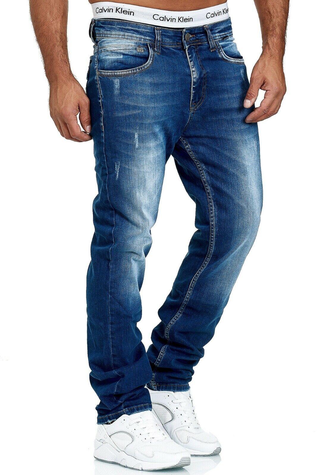 Herren-Jeans-Hose-Denim-KC-Black-Washed-Straight-Cut-Regular-Dicke-Naht-naehte Indexbild 38