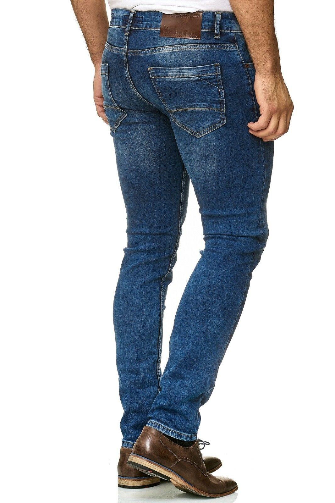 Herren-Jeanshosen-Stretch-Hose-Slim-fit-SKINNY-Jeans-Blau-Schwarz-Grau-Weiss Indexbild 42