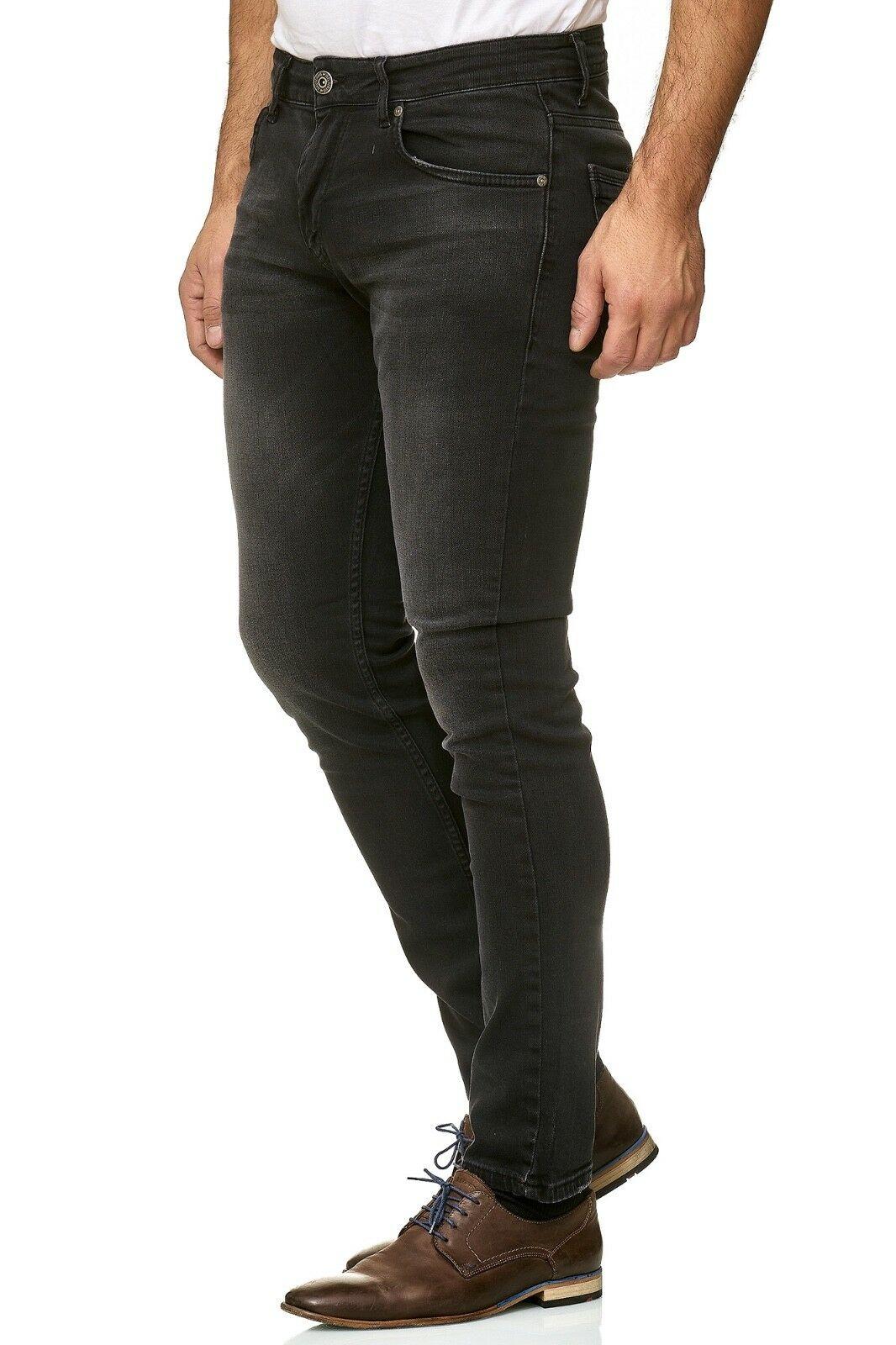 Herren-Jeanshosen-Stretch-Hose-Slim-fit-SKINNY-Jeans-Blau-Schwarz-Grau-Weiss Indexbild 49
