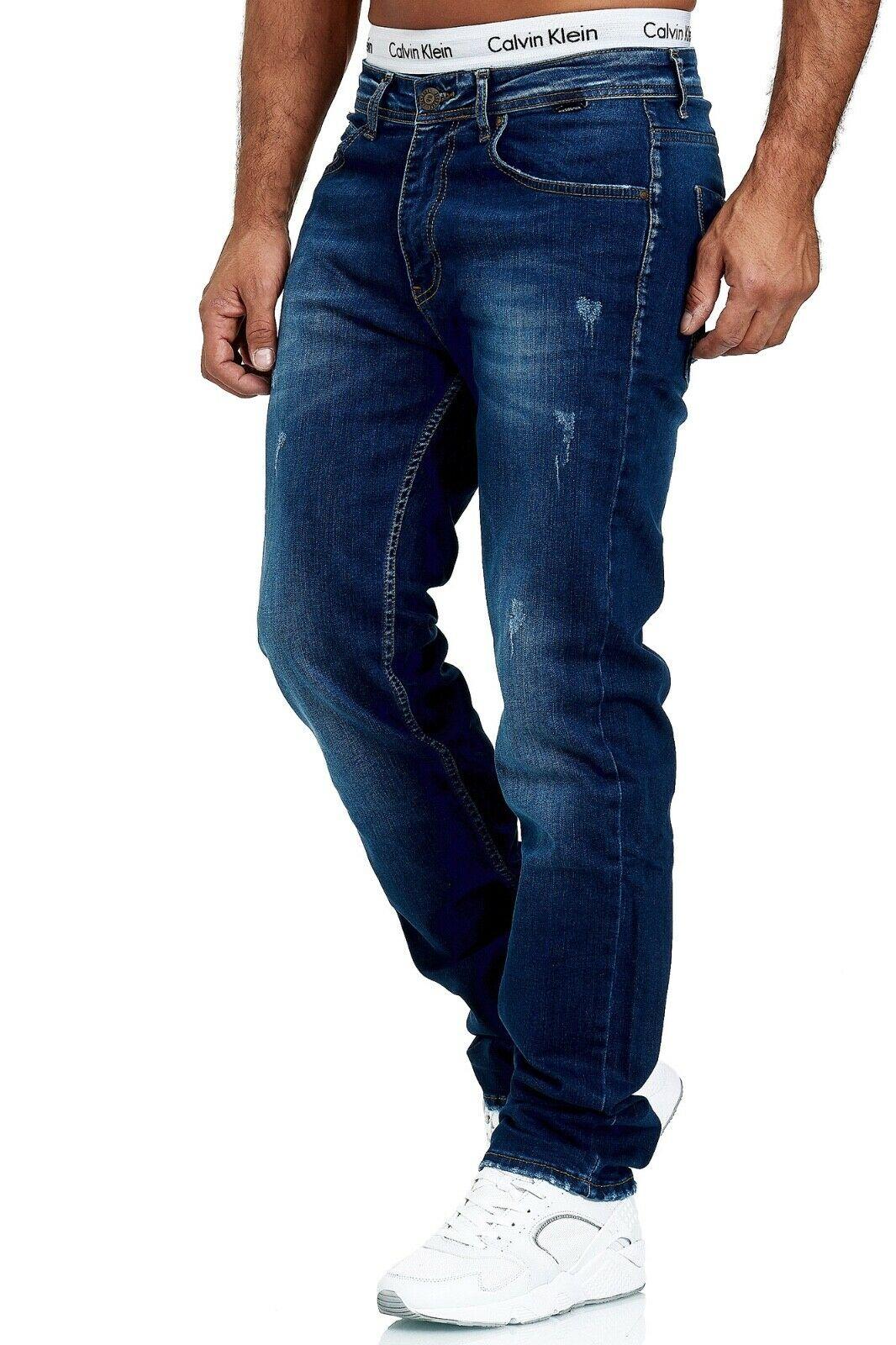 Herren-Jeans-Hose-Denim-KC-Black-Washed-Straight-Cut-Regular-Dicke-Naht-naehte Indexbild 57