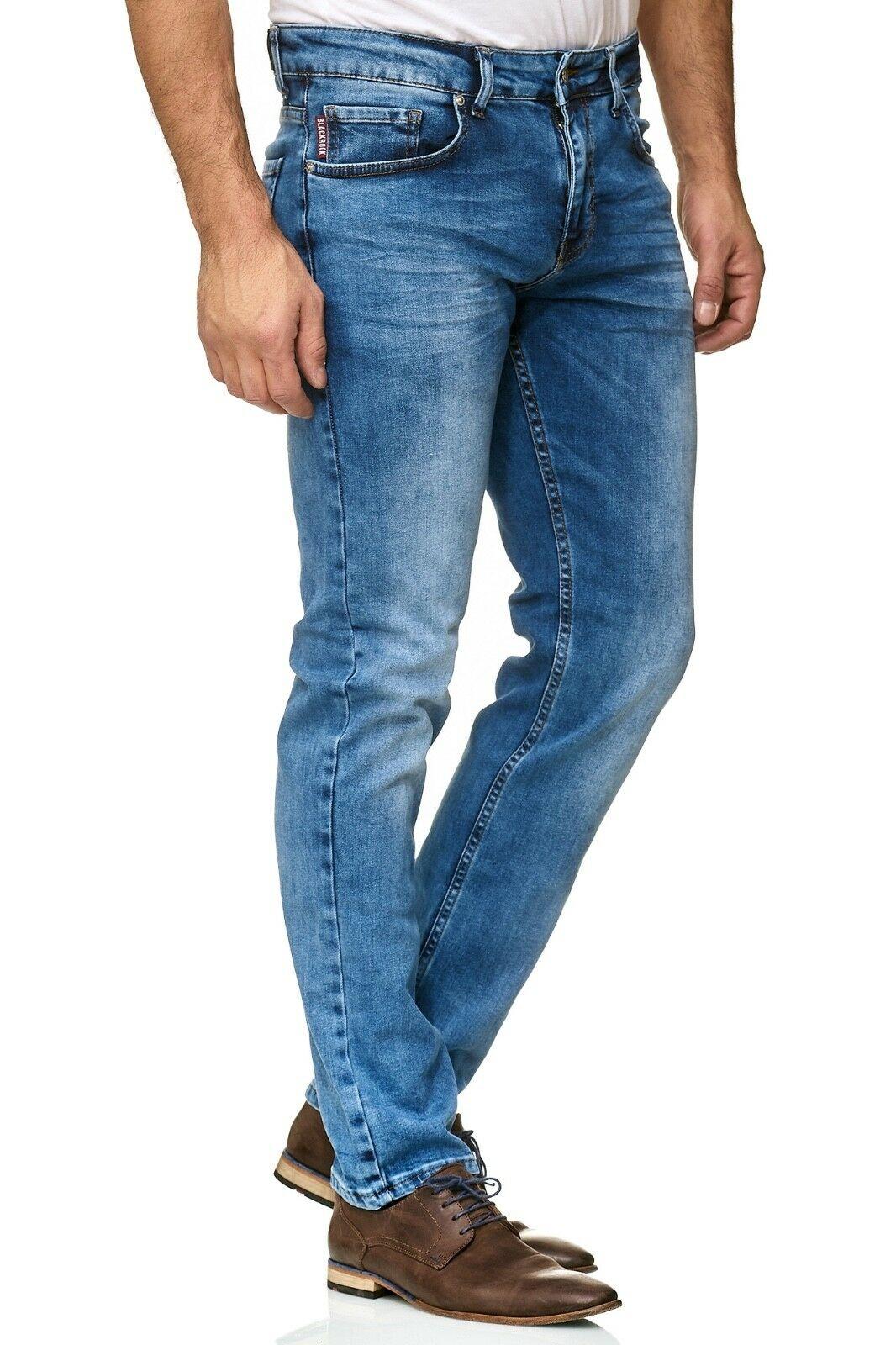 Herren-Jeanshosen-Stretch-Hose-Slim-fit-SKINNY-Jeans-Blau-Schwarz-Grau-Weiss Indexbild 54