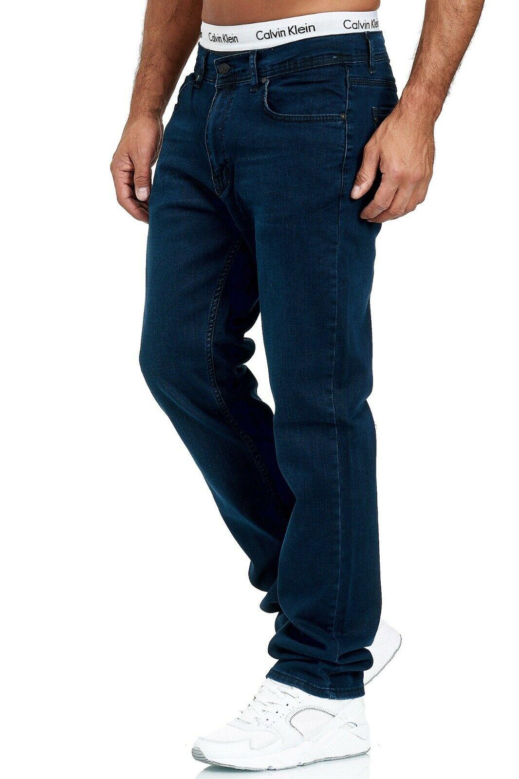 Herren-Jeans-Hose-Denim-KC-Black-Washed-Straight-Cut-Regular-Dicke-Naht-naehte Indexbild 42