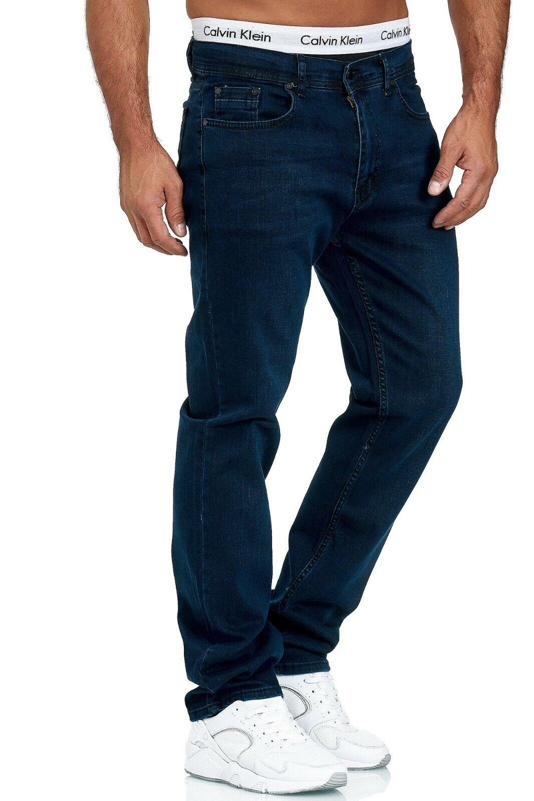 Herren-Jeans-Hose-Denim-KC-Black-Washed-Straight-Cut-Regular-Dicke-Naht-naehte Indexbild 43