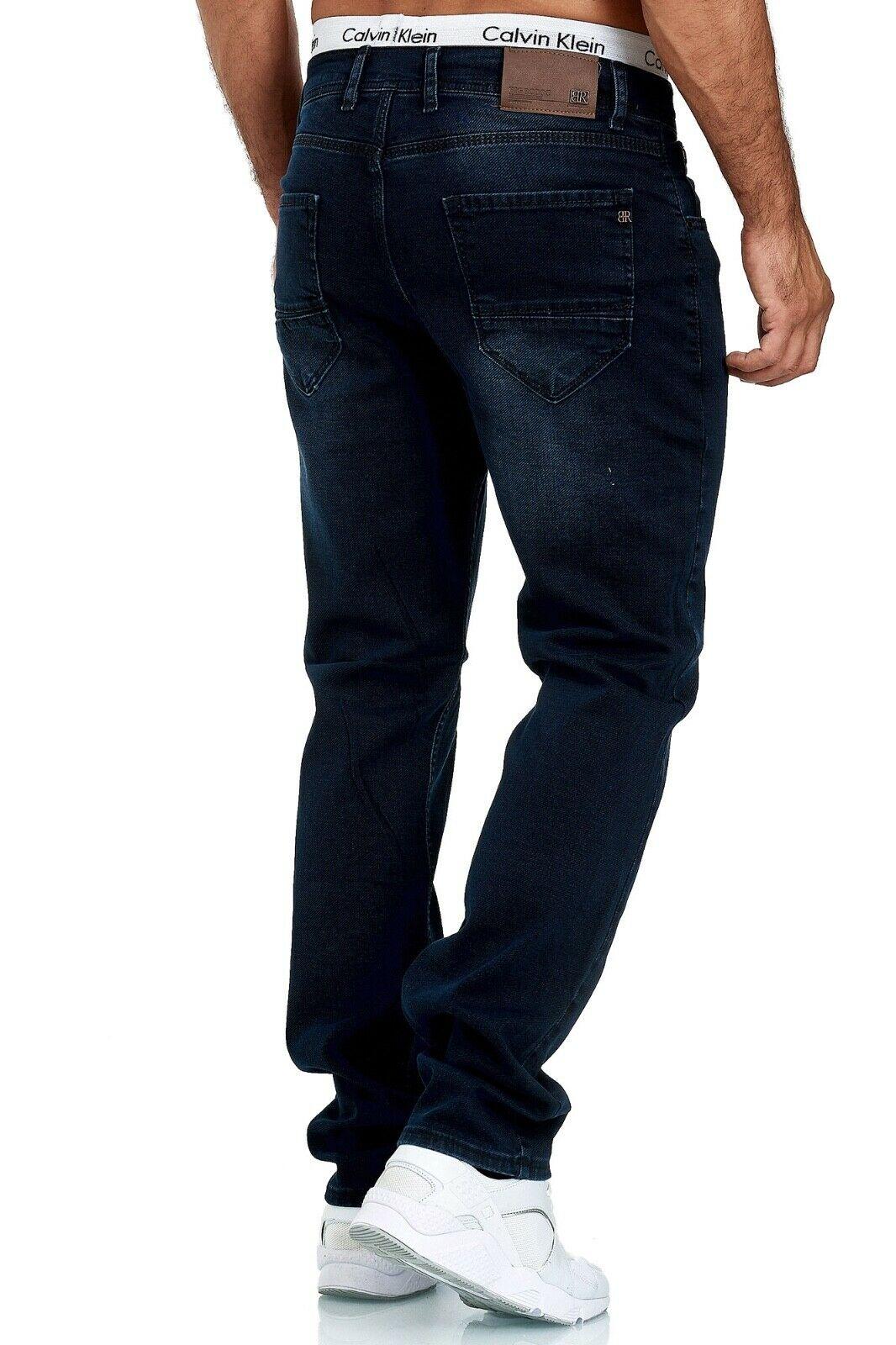 Herren-Jeans-Hose-Denim-KC-Black-Washed-Straight-Cut-Regular-Dicke-Naht-naehte Indexbild 89