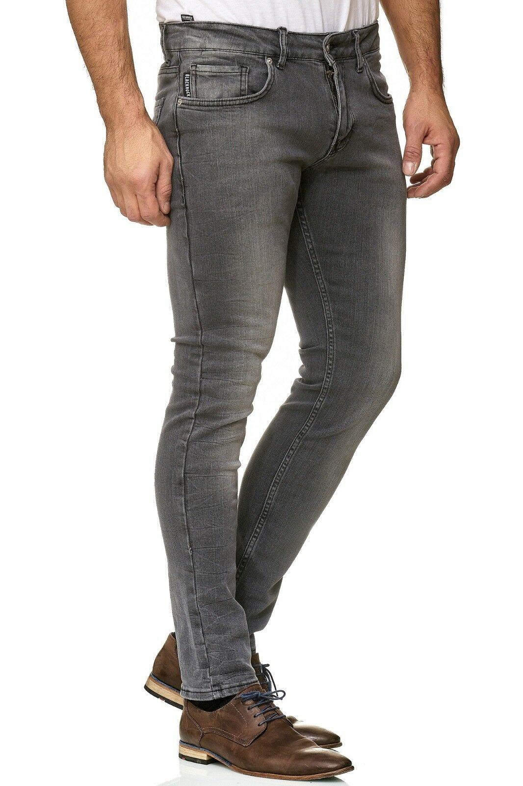 Herren-Jeanshosen-Stretch-Hose-Slim-fit-SKINNY-Jeans-Blau-Schwarz-Grau-Weiss Indexbild 34