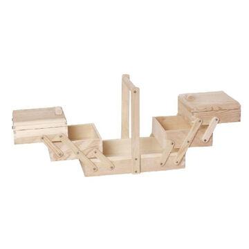 32 x 28 x 16 cm Nähkästchen Nähkasten aus Holz Maße ca