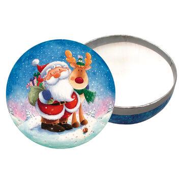 """3er Set Weihnachtskugeln zum Befüllen Ø 10 cm /""""Schneegestöber/"""" Weihnachtsdeko"""