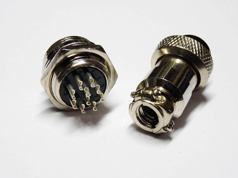 Gx16 gx16-8 8pin 16 mm Connecteur Femelle Connecteurs anschlusstecker