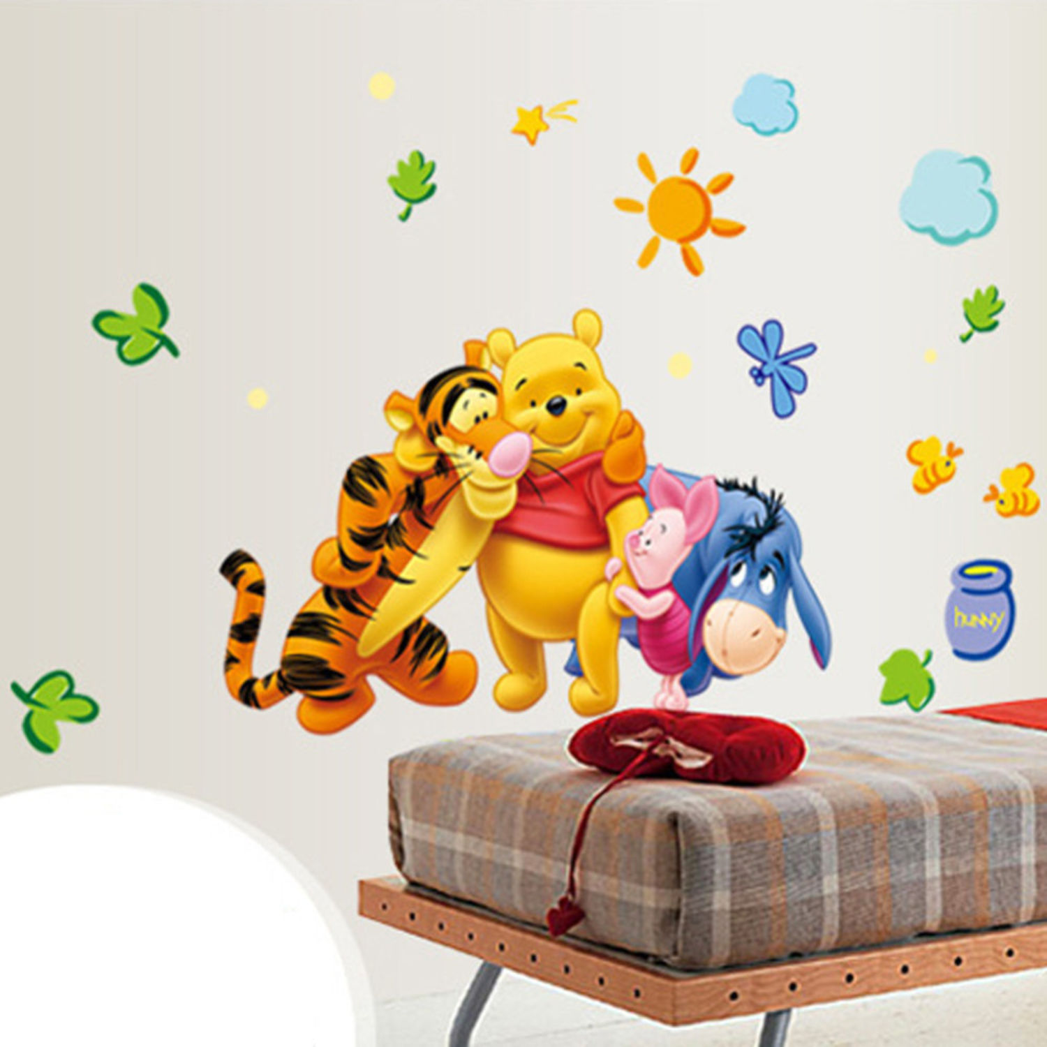 winnie pooh wandsticker wandtattoo aufkleber b r sticker wandaufkleber ebay. Black Bedroom Furniture Sets. Home Design Ideas