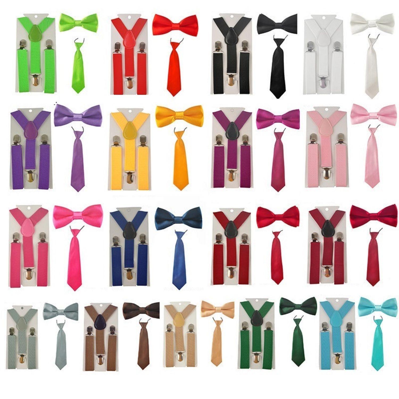 Kinder Mädchen Jungen Hosenträger Fliege Krawatte Anzug Hochzeit Y Hosenträger