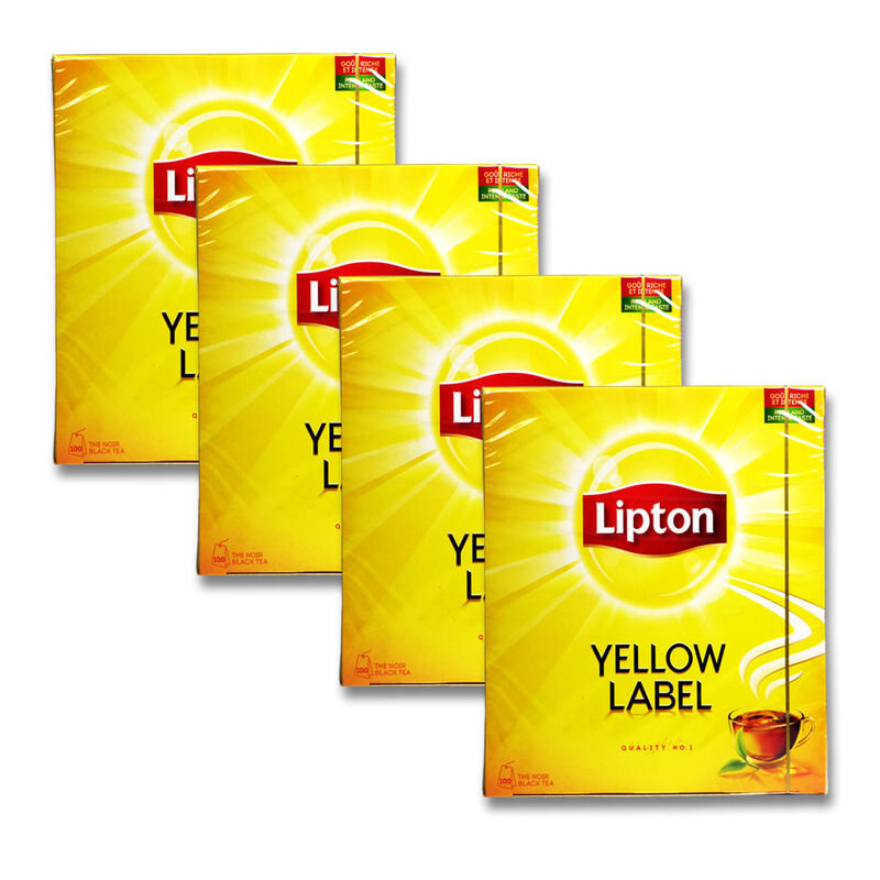 400x lipton schwarztee teebeutel yellow label tee tea