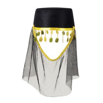 Fez con viso VELO NERO orientali copricapo cappello con velo