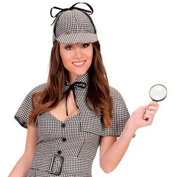 Detektiv Kostüm Set bestehend aus Lupe Mütze und Pfeife Sherlock Holmes Outfit