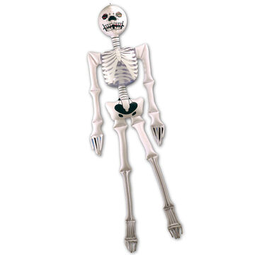 Aufblasbares Halloween Skelett Gerippe Gruselige Deko Guseldeko Knochenmann Bone