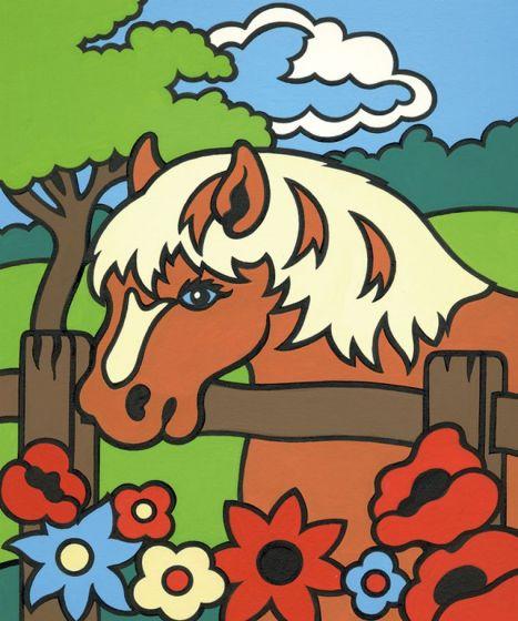 hund und pferd  malen nach zahlen mammut vorlage