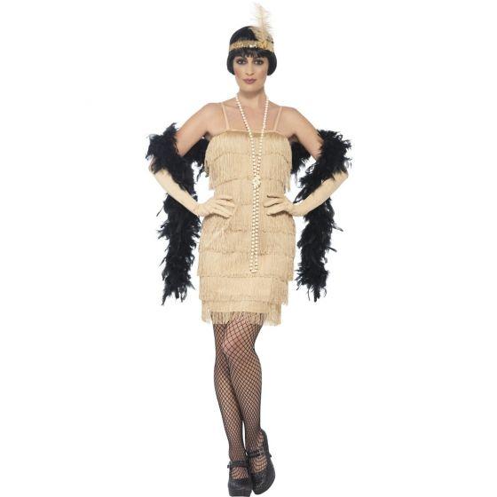Charleston Kleid Goldenes Flapper Dress 20er Jahre Kostüm Gatsby 30er Jahre