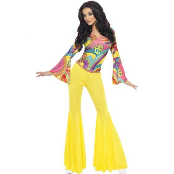 60er 70er jahre outfit damen hippie kost m damen schlagermove hippiekost m anzug ebay. Black Bedroom Furniture Sets. Home Design Ideas