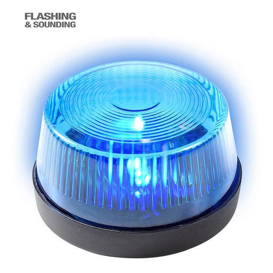 Polizei-Rundumleuchte Blaulicht mit Sirene 7x4cm Accessoire Warnlicht mit Sound