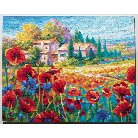 Mohnblumenfelder Schipper Malen Nach Zahlen Mohnblumen 40x50 Cm Für