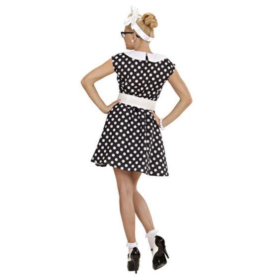 63a8258829cea8 50er Jahre Petticoat gepunktet Kleid Rockabilly Damenkleid Mode ...