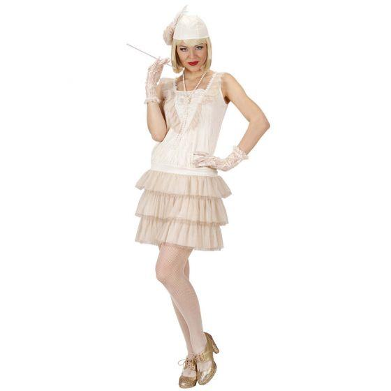 Charleston Costume 20 Anni 30 Vestito Bianco Flapperkleid Abbinamento