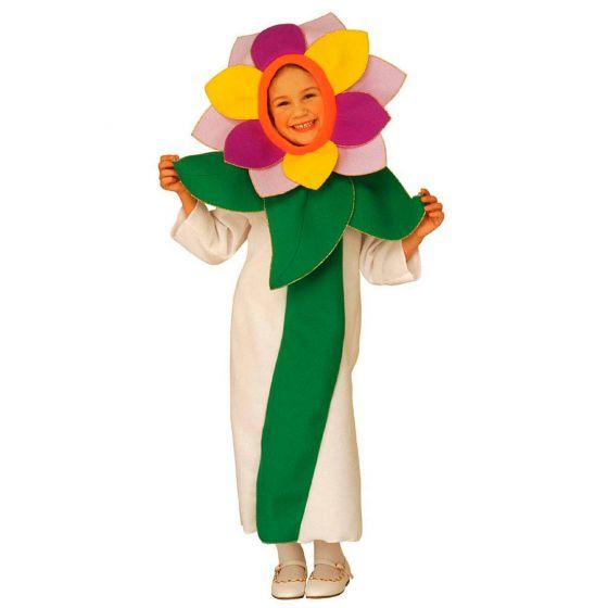 Blümchen Kinder Kostüm Blumen Kinderkostüm Blumenmädchen Jumpsuit Blüte Mädchen