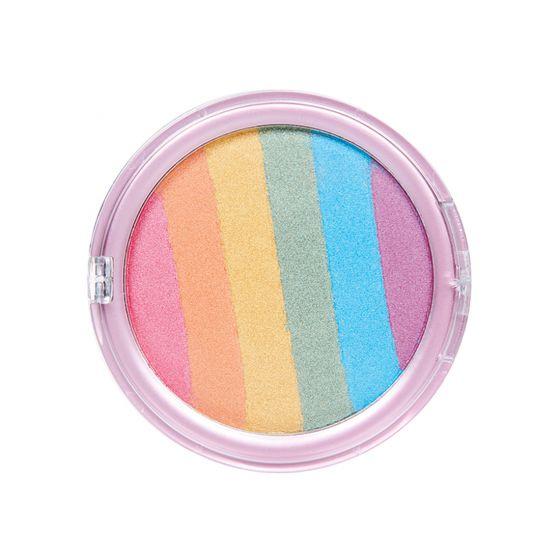 Bunte Rainbow Schminke Regenbogen Puder Make Up Einhorn Schminken