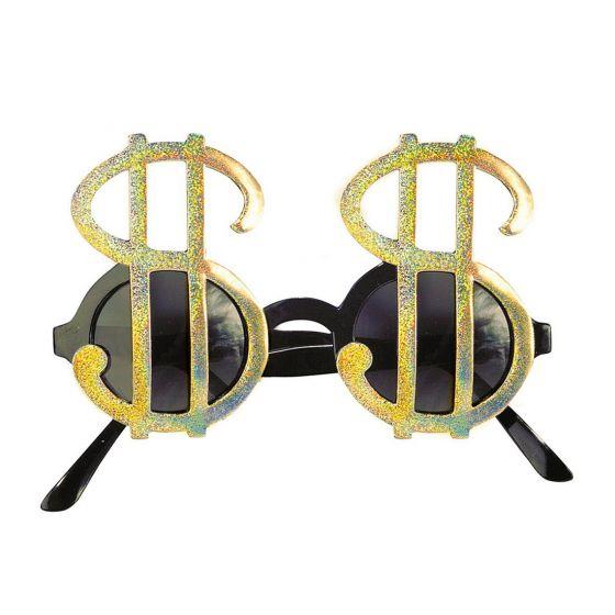 Dollarzeichen Brille Sonnenbrille Dollar Spaßbrille Pokerbrille Dollarbrille Gag