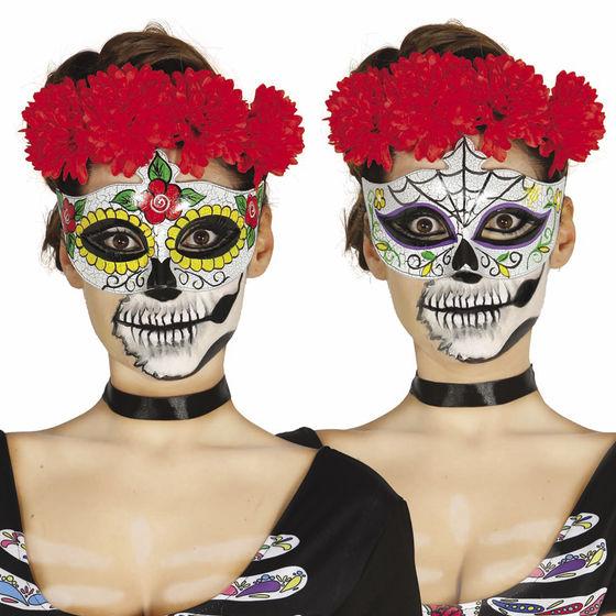 Dia De Los Muertos Augenmaske Sugar Skull Maske Halloween La