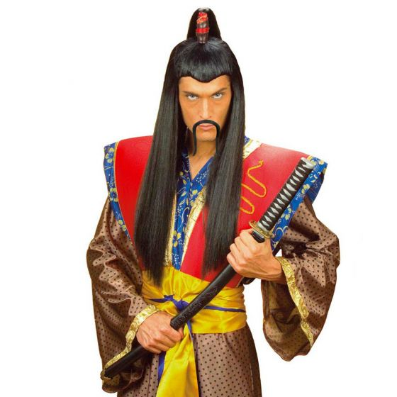 Chinesenbart China Kunstbart schwarz Dschingis Khan Schnauzer Asien Bart Samurai