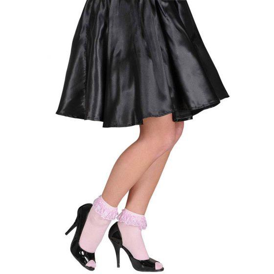 60er Jahre Rüschensocken Spitze Söckchen rosa Rüschen Socken Damen Kostümzubehör