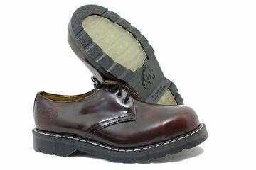 SOLOVAIR Made in Dreyer 3 trous Bourgogne Rub Off Acier Capuchon Shoe