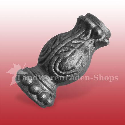 verzierte Zierhülse Steckelement für runde Stäbe Ø 16 mm schmieddeeisen