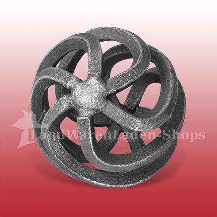 1x Zirbel Zwirbel Zirben rund schmiedeeisen Durchmesser ca 65 mm
